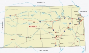 Kansas state moving map