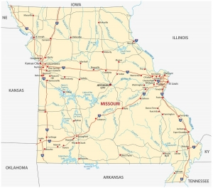 Missouri state road map
